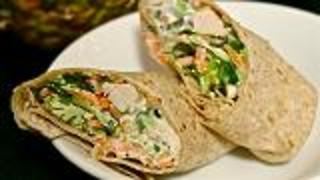 Healthy Lunch - Crunchy Hawaiian Chicken Wrap