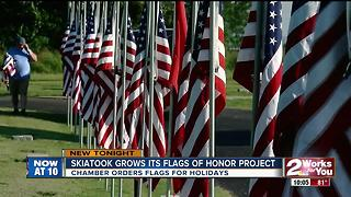 Skiatook grows its 'Flags of Honor' project - Video