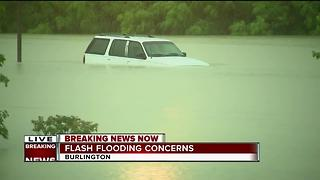 BREAKING: Flash flooding in Burlington - Video