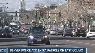 DPD numbers show East Colfax crime trend declined slightly with extra patrol - Video
