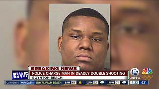 Man charged in Boynton Beach double shooting - Video