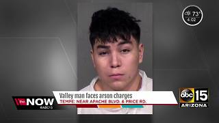 Valley man facing arson charges