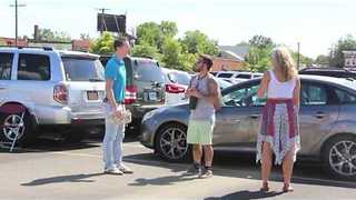 Man Pretends to Be a Protective Dad at Music Festival - Video