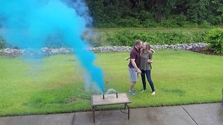 Couple surprise excited grandparents-to-be with pregnancy and gender reveal on the same day - Video
