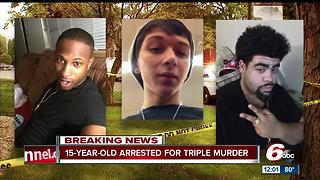 15-year-old arrested in connection with triple homicide - Video