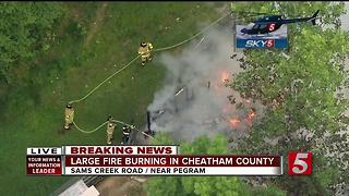 Firefighters Battle Structure Fire In Pegram