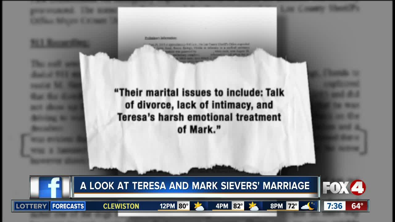 What was Teresa and Mark Sievers' marriage like?