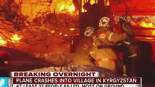Kyrgyzstan Health Ministry says cargo plane crash kills 37 - Video