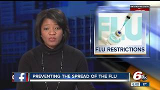 Some central Indiana hospitals restricting visitors because of flu outbreak - Video
