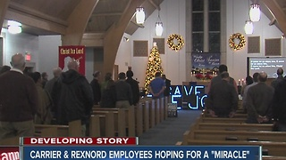 Carrier and Rexnord workers pray to save their jobs in Indianapolis - Video