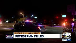 Pedestrian struck and killed near 67th Avenue and Indian School - Video