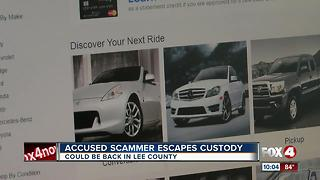 Accused Scammer Escapes Custody - Video