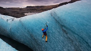 Climbers Brave Sub-Zero Temperatures To Scale Massive Icelandic Glaciers - Video