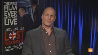 "Woody Harrelson chats about new movie ""Lost in London"" 