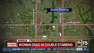 Woman found dead after man calls Mesa police saying he stabbed wife, himself - Video