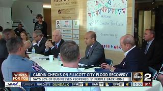 Sen. Cardin checks on Ellicott City flood recovery - Video
