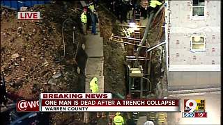One man dead after trench collapse - Video