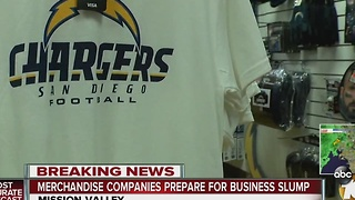 How Merchandise Stores Are Reacting to Chargers Leave - Video