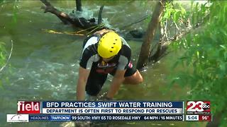 BFD practices swift water training at Hart Park - Video