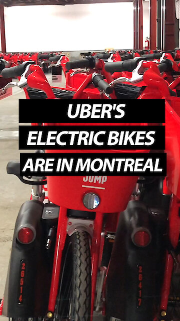 Uber's Electric Bikes Are In Montreal