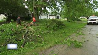 Town of Algoma affected by storm on June 14th - Video