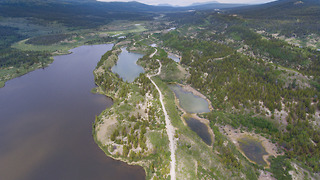 Fantastic drone footage of driving in remote British Columbia