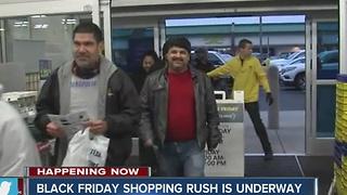 Black Friday shopping rush
