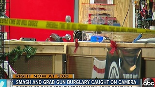 Car crashes into Tampa gun store, suspects get away with weapons, deputies investigating - Video
