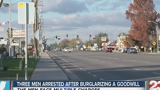 3 in custody after Goodwill burglary