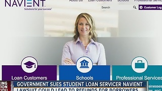 Lawsuit filed against student loan servicer, Navient, could benefit millions of borrowers - Video