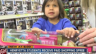Ryal students receive early holiday gifts thanks to HBA of Tulsa - Video
