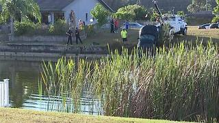 Car pulled from Cape Coral canal, investigation under way - Video