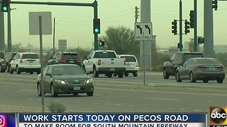 Work started on Pecos Road Monday - Video