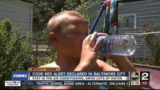 Code Red Alert declared in Baltimore City Thursday - Video