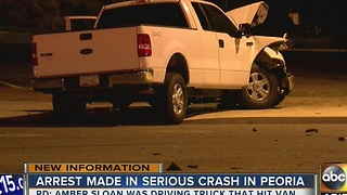 Woman arrested in Peoria crash that left 1 boy dead, 4 others badly hurt - Video