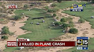 FD: 2 killed after plane crashes into golf course in Mesa