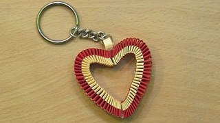 How to make a paper Heart Keychain  - Video