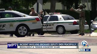 Broward deputy surrenders after standoff with PBSO - Video