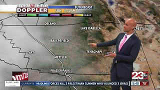 Hot weekend ahead with rain chances in Kern County!