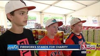 Donations from firework stands - Video