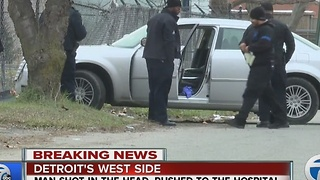 Man found shot in head in Detroit - Video