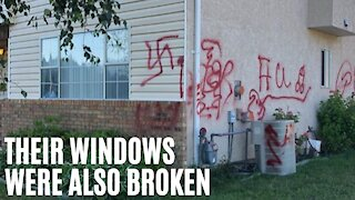 BC Indian Family Overwhelmed With 'Sadness' After Family Home Defaced With Racist Graffiti