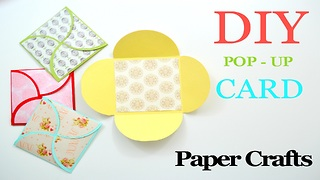 DIY paper crafts: How to make a homemade greeting card - Video