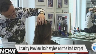 Charity Preview hair styles for the red carpet