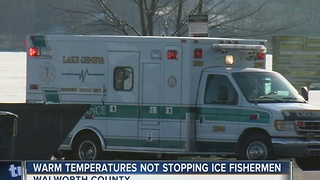 Warmer weather leaves fishermen on thin ice - Video