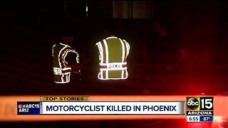 Motorcyclist dies after being struck by car in north Phoenix
