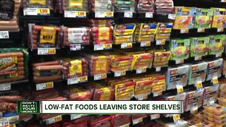 Low-fat foods leaving store shelves - Video