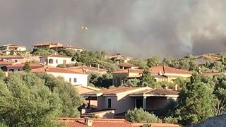 Smoke Billows as Wildfires Rage on the Coast of Sardinia - Video