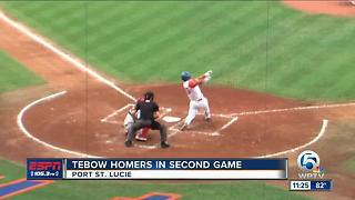 Tim Tebow smacks home run in 2nd game for St. Lucie Mets - Video