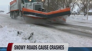 Crashes increase on snowy roads - Video